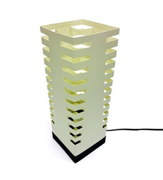 The Light Box Off White Paper Tower Lamp Shade