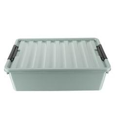 The Quirk Box Multipurpose Plastic 40 L Grey Storage Box With Lid