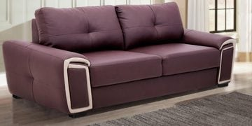 Three Seater Sofa In Grape & Beige Colour By Furncoms