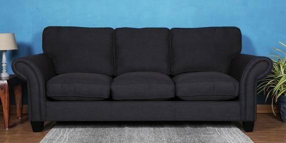 Three Seater Sofa In Dark Grey