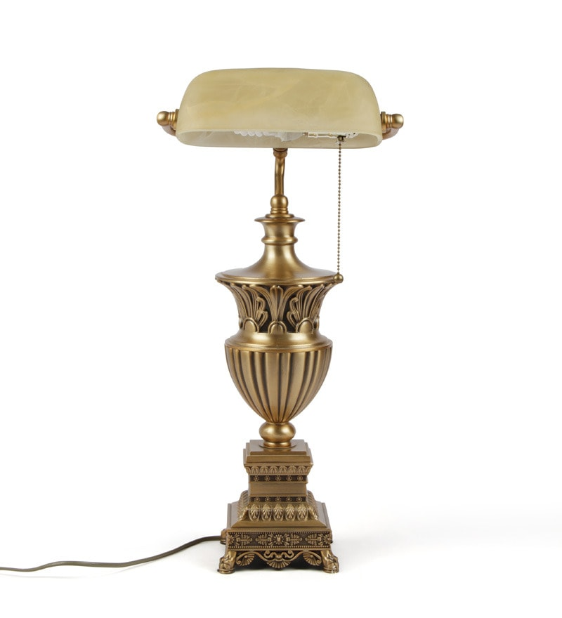Buy Bankers Brass Table Lamp By The 7th Galaxy Online
