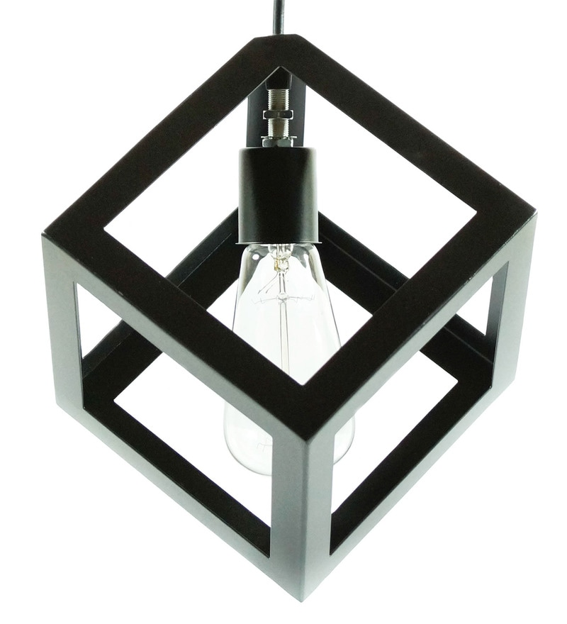Buy cube black 60w ceiling lamp by the black steel online eclectic click to zoom inout aloadofball Choice Image
