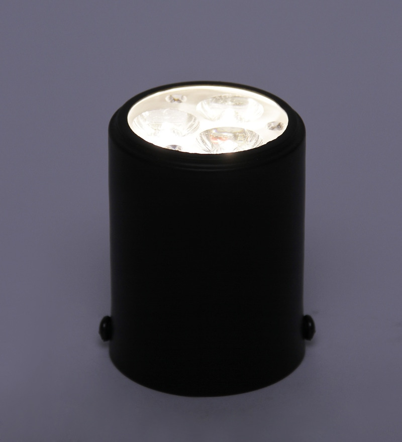 Black Metal Flush Mounted Ceiling Light by The Brighter Side