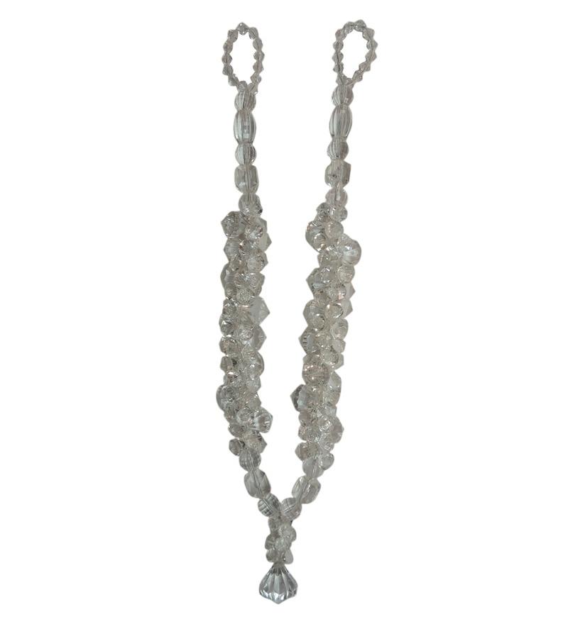 Grey Acrylic Curtain Tassel Tieback by The Decor Mart