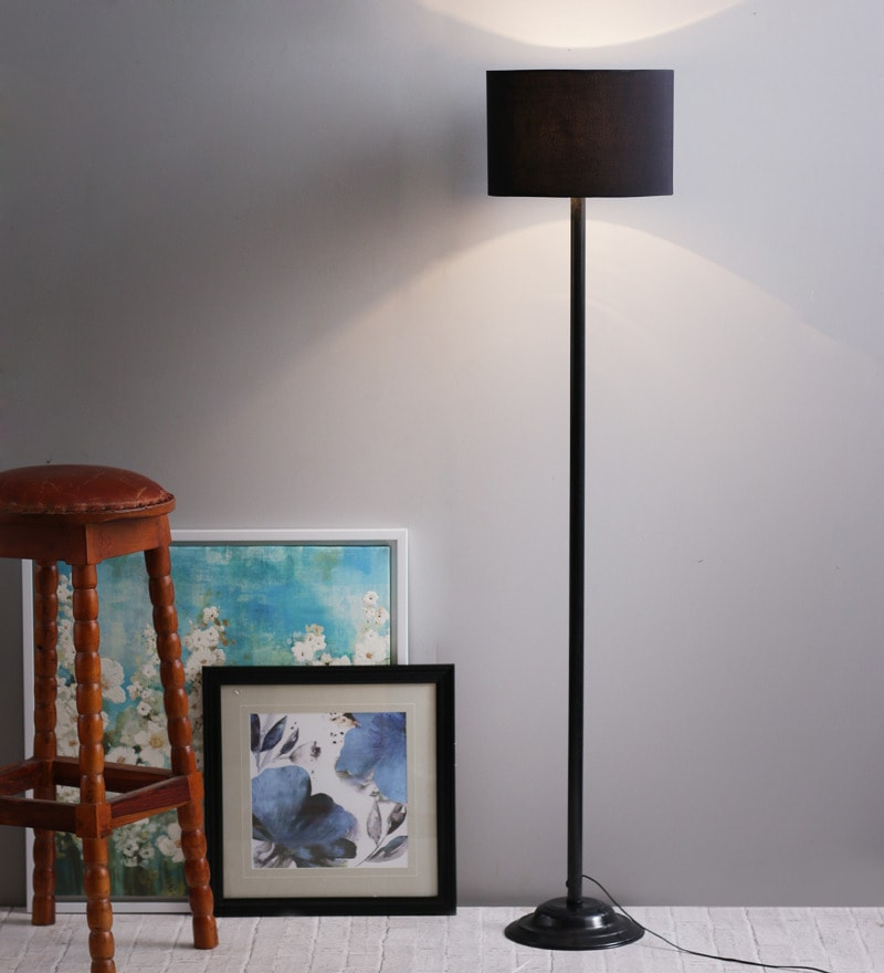 Black Shade Metal Floor Lamp by The Light House