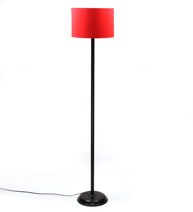 Buy the light house red cylinder shade metal floor lamp for Floor lamp with cylinder shade