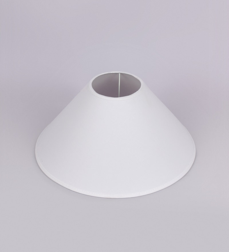 Off White Cotton Conical Lamp Shade by Kapoor E Illuminations
