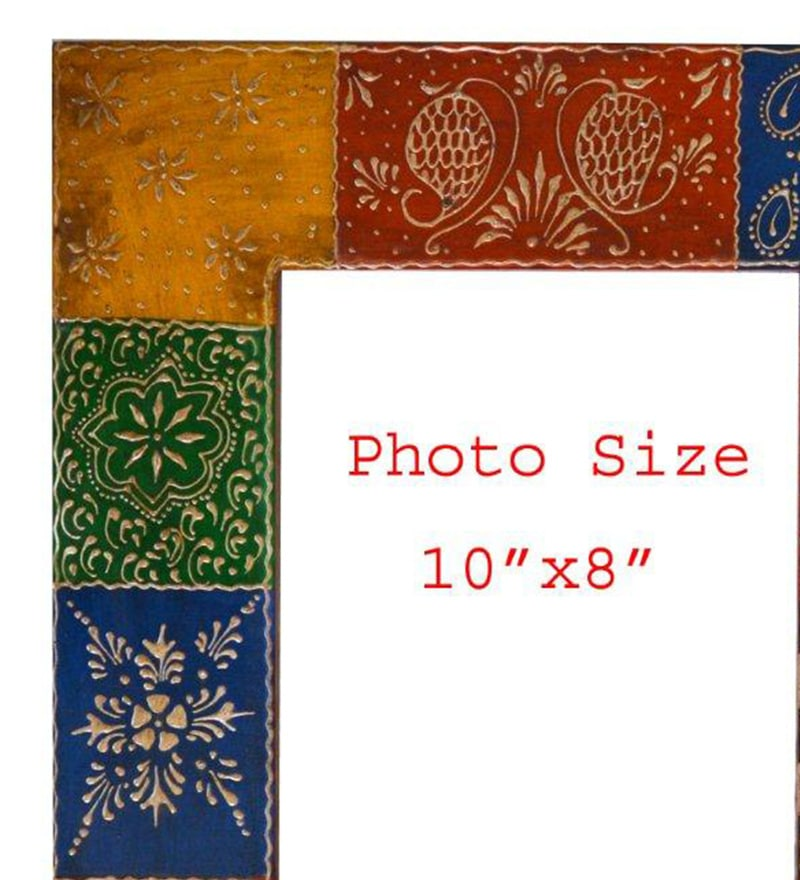 Buy The Shopy Multicolour Solid Wood 14 x 0.8 x 16 Inch Single Photo ...