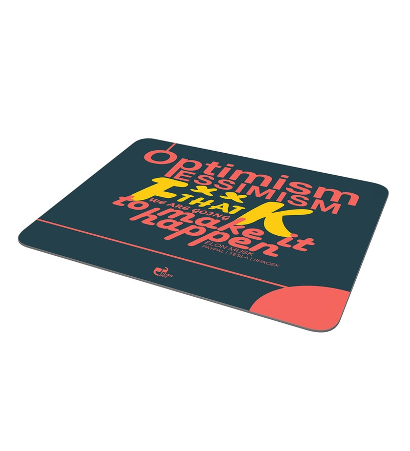 Multicolor Foam Elon Musk Quote Mousepad by Thinkpot