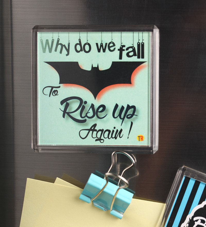 Multicolour Plastic & Paper Batman Rise Door Magnet by Thoughtroad