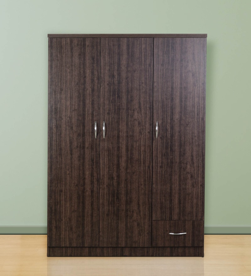 Three Door Wardrobe in Wenge Finish by DHEP Furniture