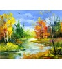 Hashtag Decor The Autumn Landscape Engineered Wood 27 x 20 Inch Framed Art Panel