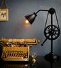 The Black Steel Black Iron Table Lamp