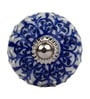 The Decor Mart Blue Ceramic Door Knob ( Model No: DMKN082 ) - Set Of 4