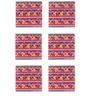 The Elephant Company Acrylic Coaster Rangeen Hathi - Set of 6