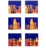 The Elephant Company Mumbai Cityscape Acrylic Coasters - Set of 6