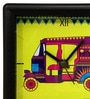 Multicolour Glass & Plastic 5.6 x 2 x 5.6 Inch Lemon Rickshaw Alarm Clock by The Elephant Company