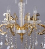 Gold Metal & Glass Chandelier by Kapoor E Illuminations