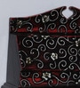 Black MDF Handpainted Jodhpuri Key Holder by Nandani Wood