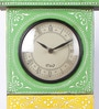 Multicolour Mango Wood & MDF 8.8 x 4.5 x 18.8 Inch Jodhpuri Clock with Key Box by Nandani Wood
