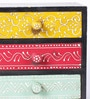 The Mikky Shoppe Station Multicolour Mango Wood & MDF Jodhpuri Collectible with 3 Drawers