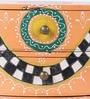 Multicolour Mango Wood & MDF Jodhpuri Collectible with 2 Drawers by Nandani Wood