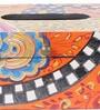 The Mikky Shoppe Station Multicolour Mango Wood & MDF Jodhpuri Tissue Holder
