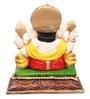 The Nodding Head Multicolor Polyresin Dhoti Sitting Ganesha Idol