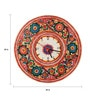 The Nodding Head Multicolour Leather 34 Inch Round Hand Painted Wall Clock