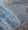 Blue & Grey Wool 24 x 18 Inch Tebrisi Floor Cushion Cover with Insert by The Rug Republic