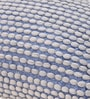 White & Blue Polyester 24 x 18 Inch Rococco Floor Cushion Cover with Insert by The Rug Republic