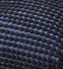 Blue Polyester 24 x 18 Inch Rococco Cushion Cover with Insert by The Rug Republic