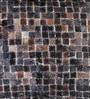 Multicolour Natural Hide 18 x 18 Inch Mosaic Cushion Cover with Insert by The Rug Republic
