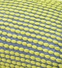 Yellow & Grey Polyester 24 x 18 Inch Rococco Cushion Cover with Insert by The Rug Republic