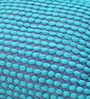 Ocean Blue Polyester 24 x 18 Inch Rococco Cushion Cover with Insert by The Rug Republic