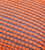Orange & Grey Polyester 24 x 18 Inch Rococco Cushion Cover with Insert by The Rug Republic