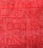 Red Viscose 18 x 18 Inch Cushion Cover with Insert by The Rug Republic