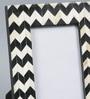The Yellow Door Black & White MDF & Glass 6.5 x 8.5 Inch Monochrome Chevron Print Photo Frame