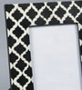 The Yellow Door Black & White MDF & Glass 8.5 x 10.5 Inch Monochrome Chevron Print Photo Frame