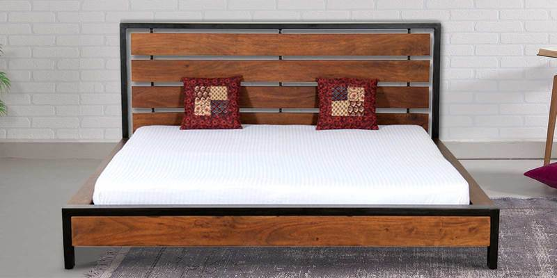 Tiber King Bed in Premium Acacia Finish by Woodsworth