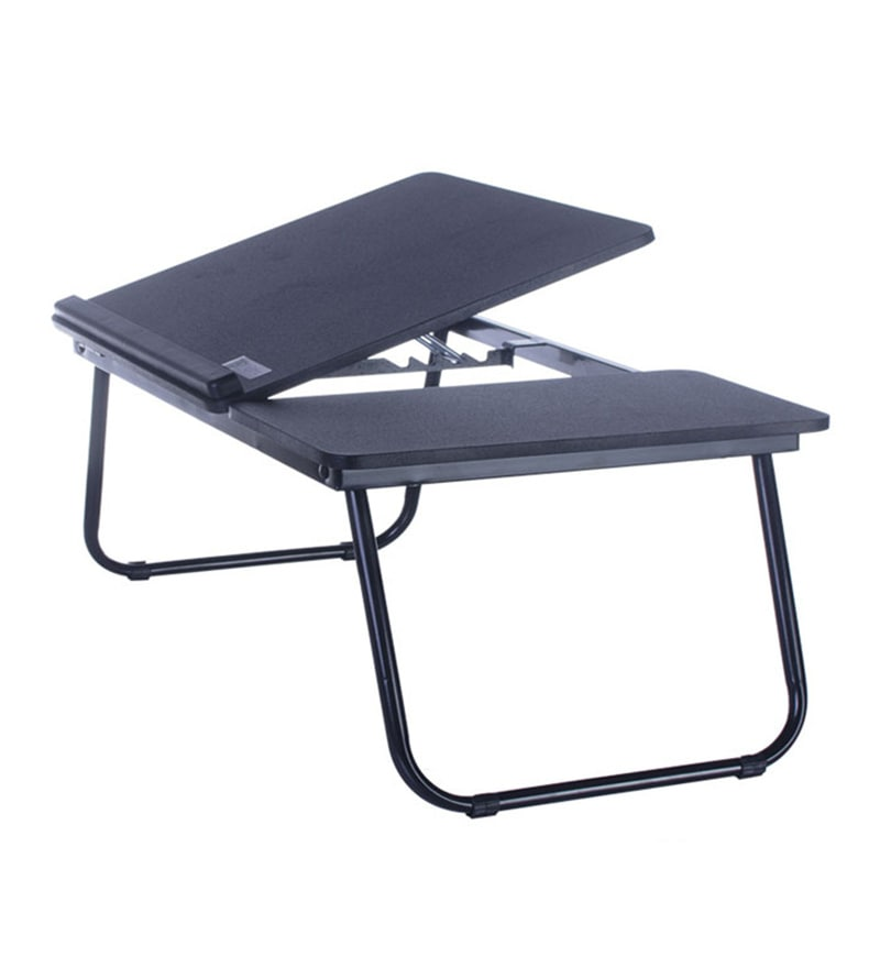 Tidyhomz Brisbane Steel Black Laptop Table