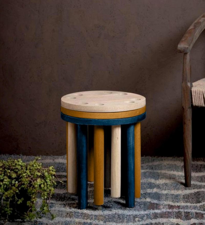Toto Set of Tables in Multi- Color Finish by Bohemiana