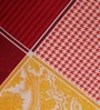 Yellow & Maroon Cotton Queen Size Bed Sheet - Set of 3 by Tomatillo