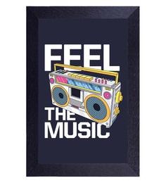 Translight Paper 10 X 0.5 X 15 Inch Feel The Music Led Frame Digital Art Print