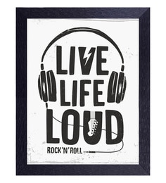 Translight Paper 10 X 0.5 X 15 Inch Live Life Loud Led Frame Digital Art Print