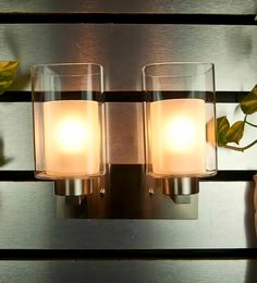 Transparent Glass & Metal Wall Light - 1657203