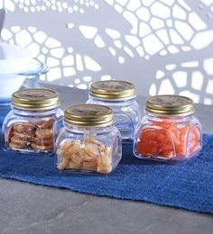 Transparent Homemade Jar With Metal Cover 300 ML - Set Of 4