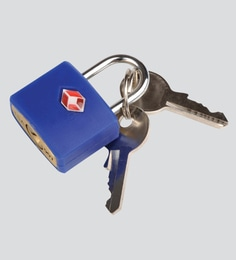 Travel Blue Brass & Abs Blue Padlock