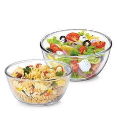 Treo Borosilicate Glass Microwave Safe & Mixing Bowls - Set Of 2