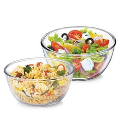 Treo Borosilicate Glass Microwave Safe Mixing Bowls - Set Of 2 - 1662555